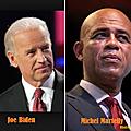 Résumé du coup de téléphone passé par le vice-président américain au président haïtien michel martelly