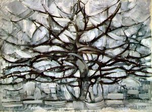 Mondrian_Arbre_gris_
