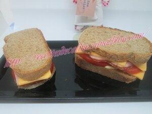 Sandwich au rôti de porc froid, tomates et cheddar13
