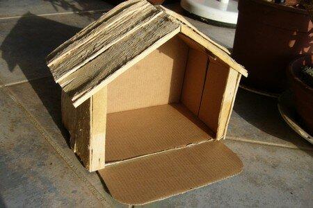 Cabane cr che tape 2 marilyn au fil des jours - Fabriquer une creche de noel en carton ...