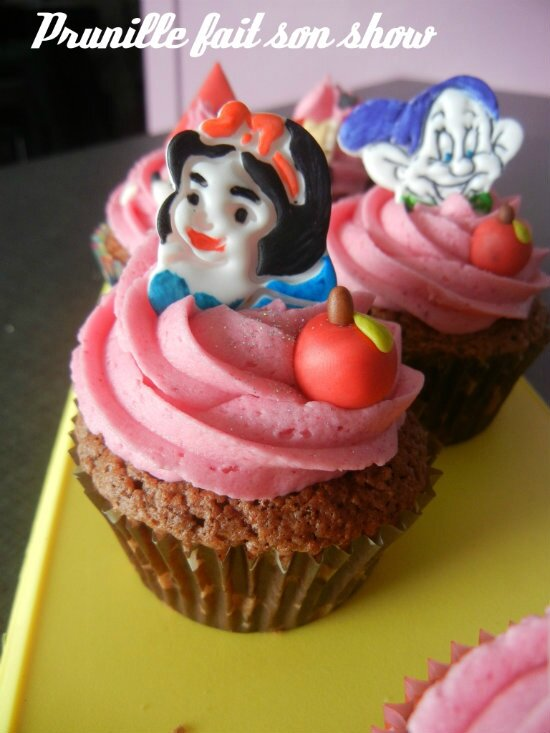 cupcakes blanche neige prunillefee