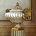French 18th century marble urn & porphyry urn