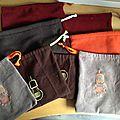 Pochettes et un sac pour la pêche