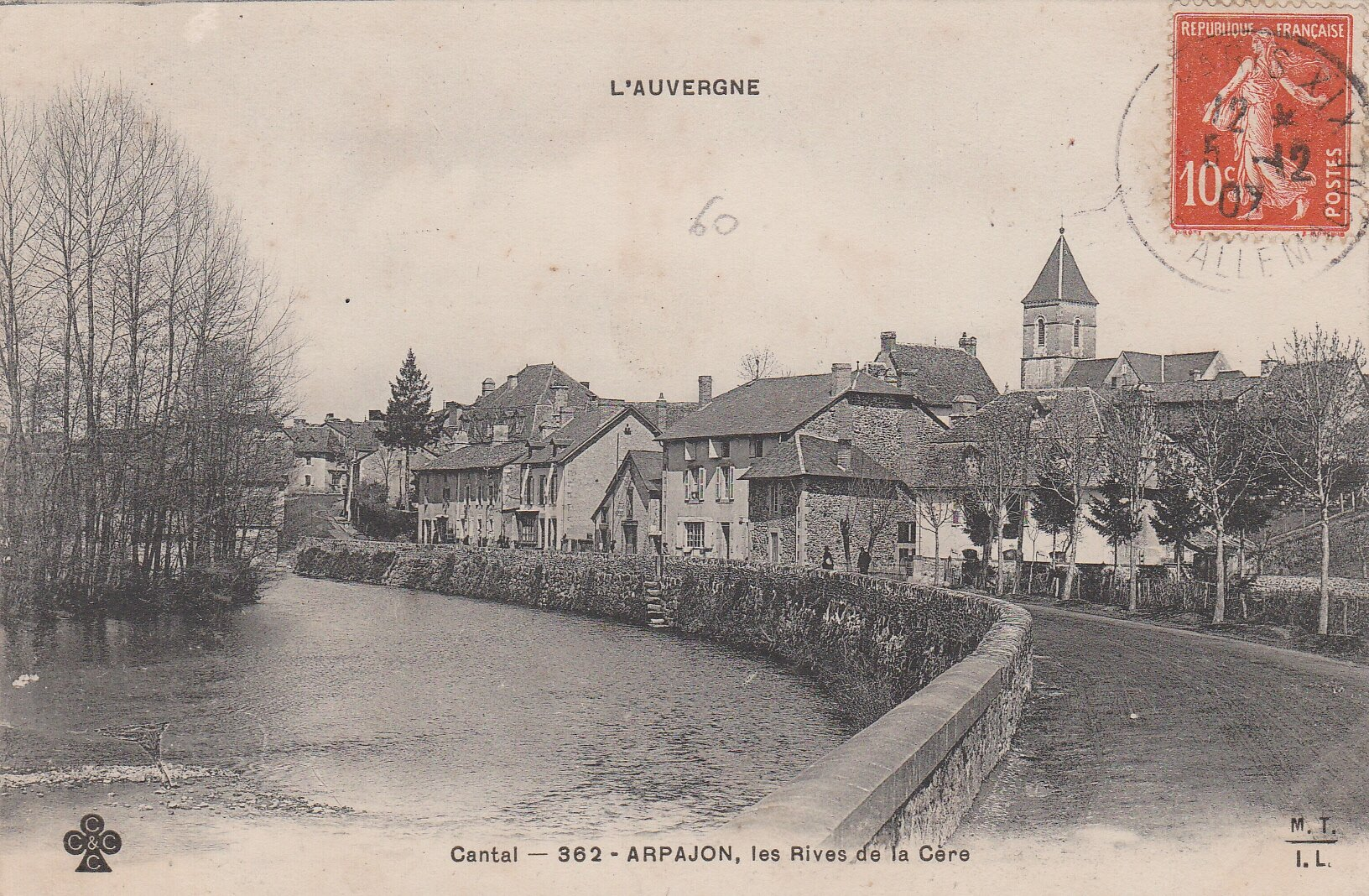 Cantal-362 - ARPAJON, les Rives de la Cère 1907