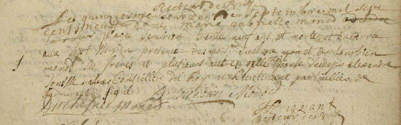 D Marie Gabrielle Monod 15 septembre 1709 B7S