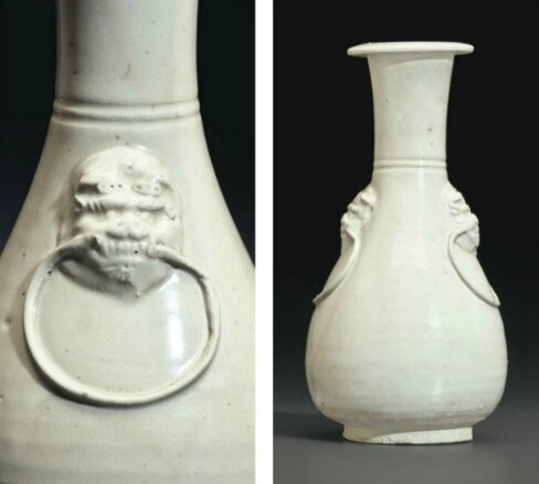 A Cizhou-type clear-glazed pear-shaped vase, China, Song-Yuan dynasty (AD 960-1368)