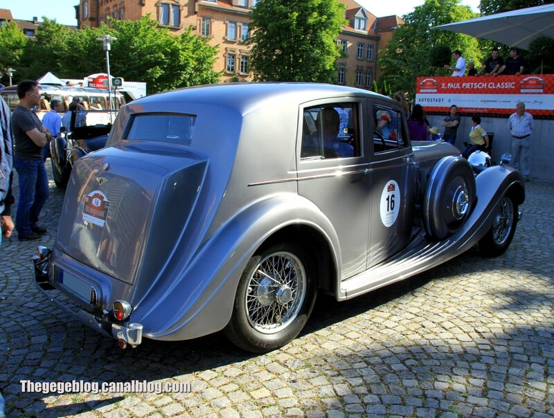 Bentley MK VI saloon de 1936 (Paul Pietsch Classic 2014) 02