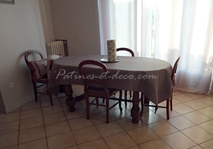 table chaises milly avant