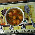 La soupe de melon à la menthe de mamie soupe