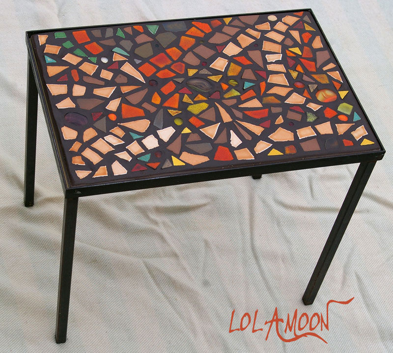 table sienne fer forg photo de tables mosaiques cr ations mosaiques et bijoux. Black Bedroom Furniture Sets. Home Design Ideas