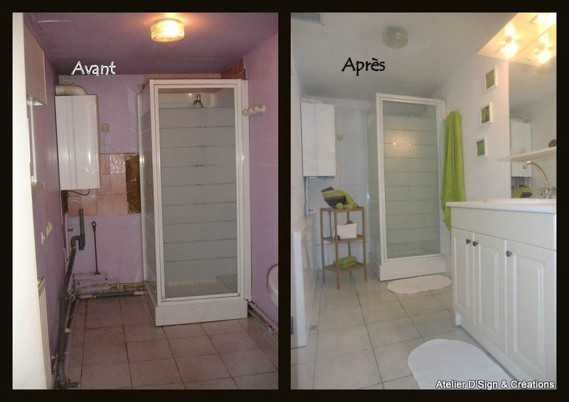 Salle de bains photo de home staging atelier d 39 sign for Salle de bain annee 30