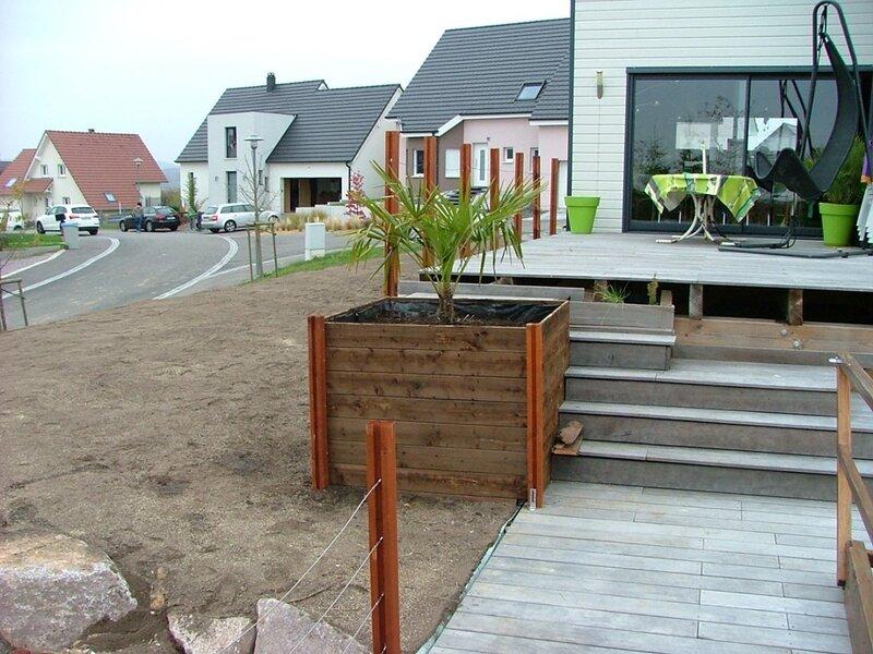 Amenagement exterieure maison amnagement paysager moderne for Plan amenagement exterieur maison