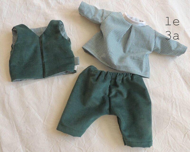 vêtements poupée marion détails