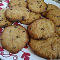 *** cookies au chocolat, beurre de cacahuète et flocons d'avoine ***