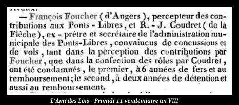 L'Ami des Lois Primidi 11 vendémiaire an VIII z
