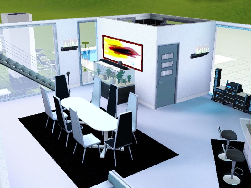 Picazza sims3 maison a telecharger gratuitement for Grande table de salle a manger 8 personnes