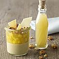 Crème brûlée vanille, gelée d'ananas et sablé vanille ...pour 477cal par personne !!