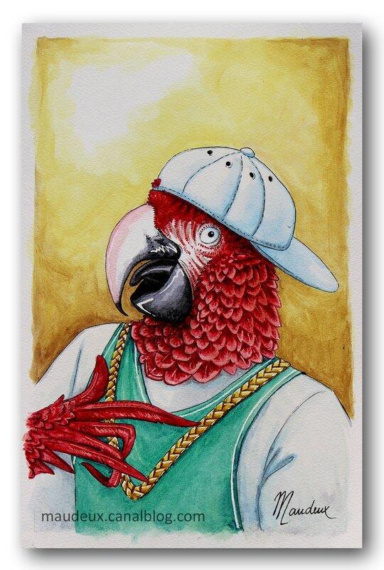 perroquet rappeur