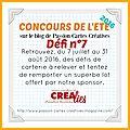 Concours de l'ete 2016 - défi n°7