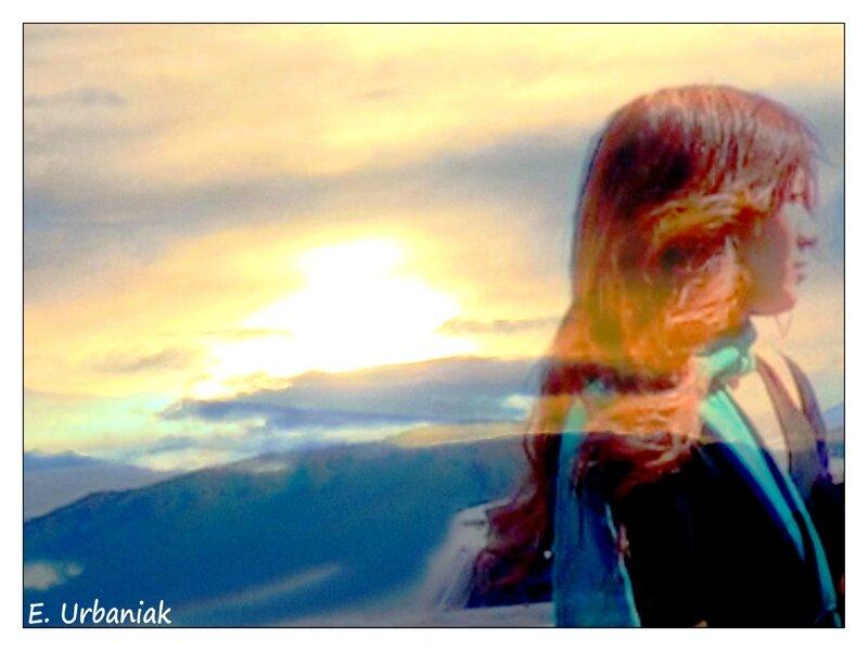 pensées en coucher de soleil