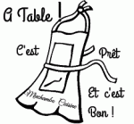 tablier a table