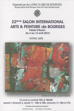 Salon international arts et peinture de bourges lions for Salon de bourges