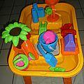 Table sable et eau de maxi toys