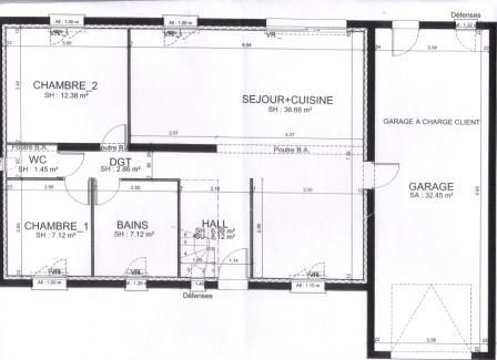 Plan interieur photo de photos du terrain et plan de la maison la construction de notre for Plan interieur de maison en l