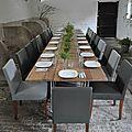 Table pour groupe de 20 personnes