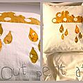 Coussin nuage moutarde