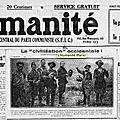 L'humanité 1926, michel onfray et les têtes coupées