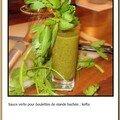 #173 - sauce verte pour boulettes kefta