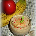 Smoothie pommes bananes gingembre