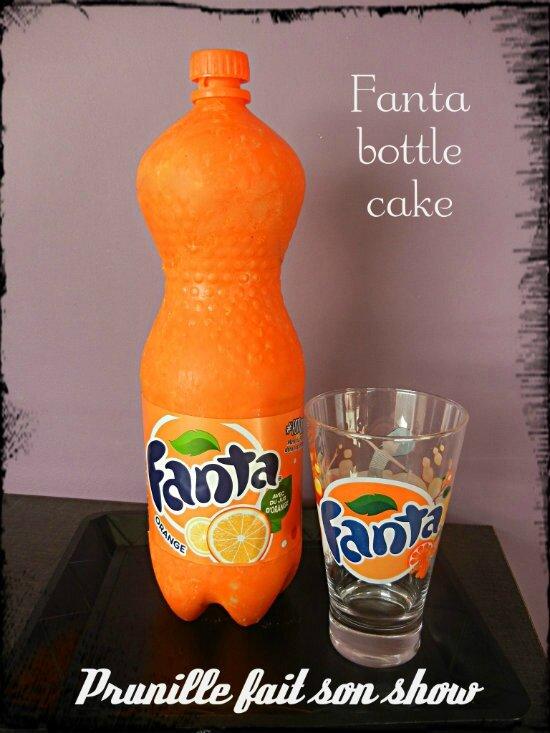 gateau bouteille de Fanta