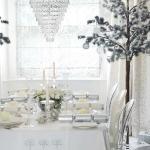 décoration-table-Noël-blanche-sapin-original