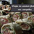 Wraps au saumon fumé et aux courgettes