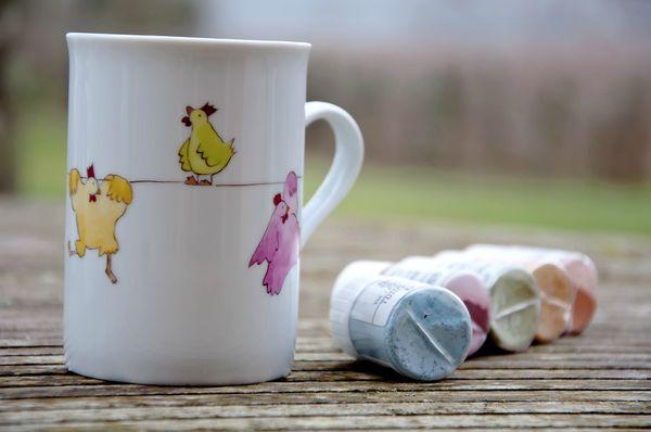 mug poules sur un fil2