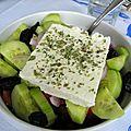 salade grecque à la fêta