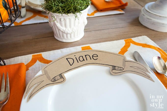 Paper-Ribbon-Table-Place-card-Free-Printable