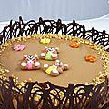Maxi tour en cuisine: entremet au caramel et chocolat