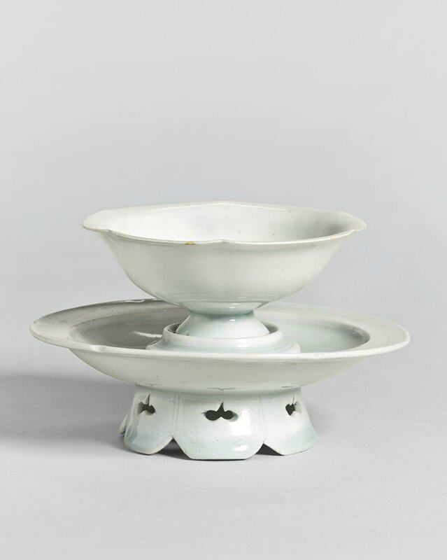 A 'Qingbai' cup and stand, Song dynasty