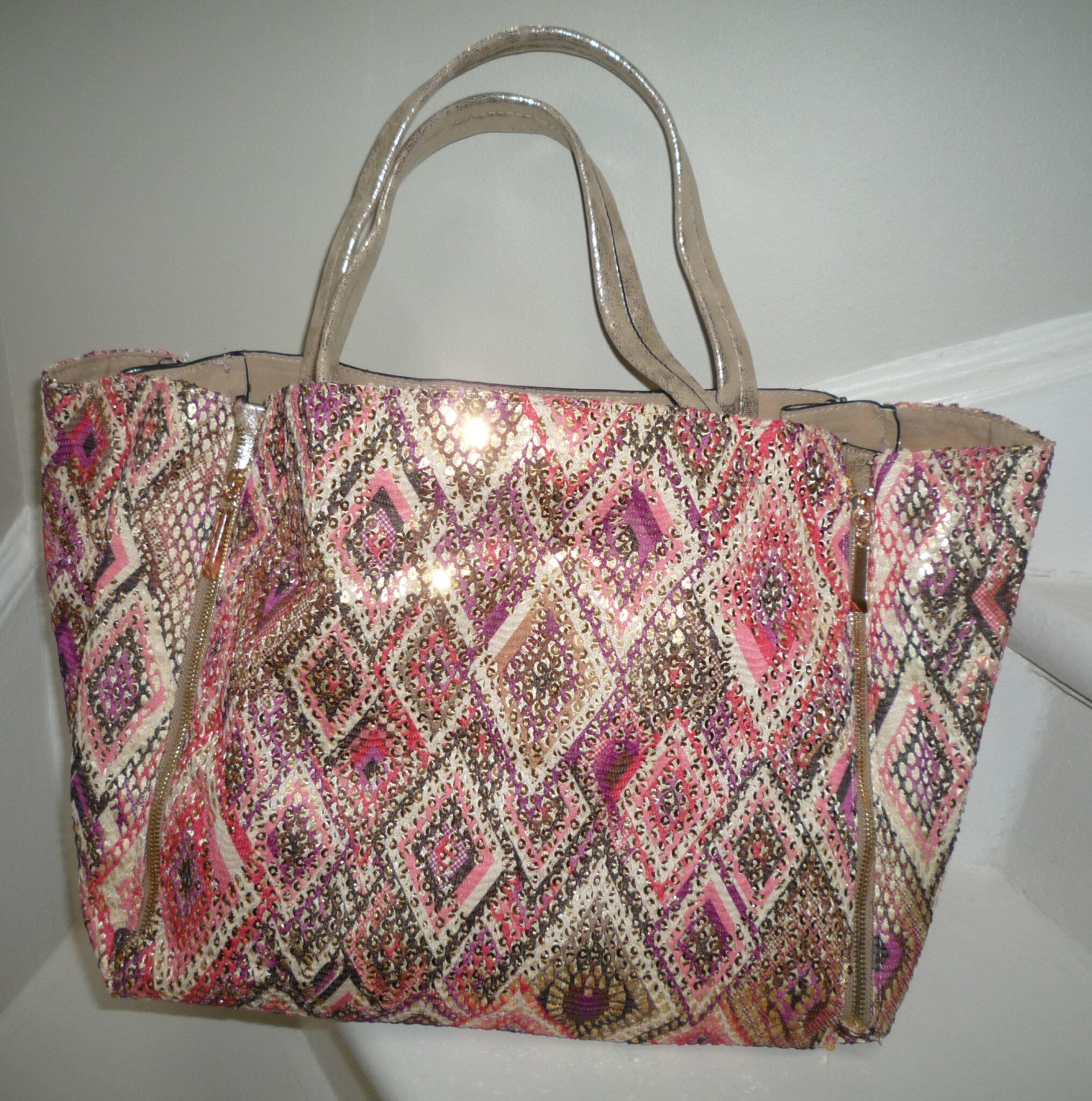 Sac Cabas 'Losanges' multicolore