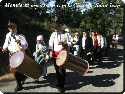 procession vers la chapelle
