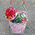 Flowers caddie [tuto inside] au printemps