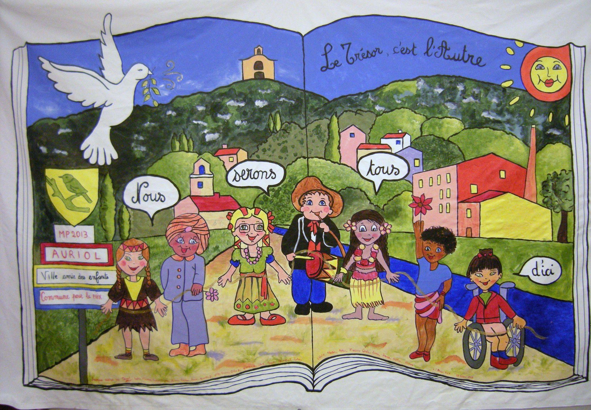 La grande fresque de la paix de la biblioth que d 39 auriol 13 domi dessins et peintures - Dessin sur la paix ...