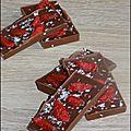 Mediants au chocolat au lait, baies de goji et noix de coco
