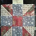 5ème, 6ème et 7ème bloc de the farmer's wife sampler quilt