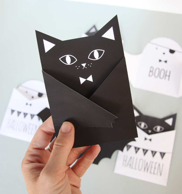 halloween-chat-2 diy carte printable
