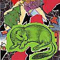 Déchets papiers déchirés et collés - Recyclage papier - Carte voeux hermine chutes papiers - Art Création Recyclage Récupération - Paper waste - Hârtie card reciclare - Deşeurile de hârtie - Minecile