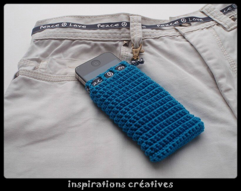 tuto housse smartphone au crochet inspirations cr atives. Black Bedroom Furniture Sets. Home Design Ideas